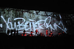 Event management, corporate video, animated graphics, animated text, business presentations, The Wall 30th anniversary tour, Pink Floyd
