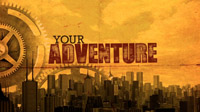 inspirational meeting opener Chart Your Adventure contains travel themes big cities and working hard to collect the rewards
