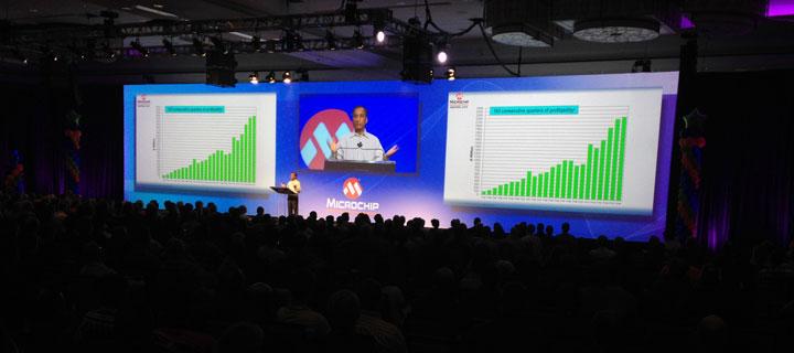 2016 Masters wide screen during keynote presentation